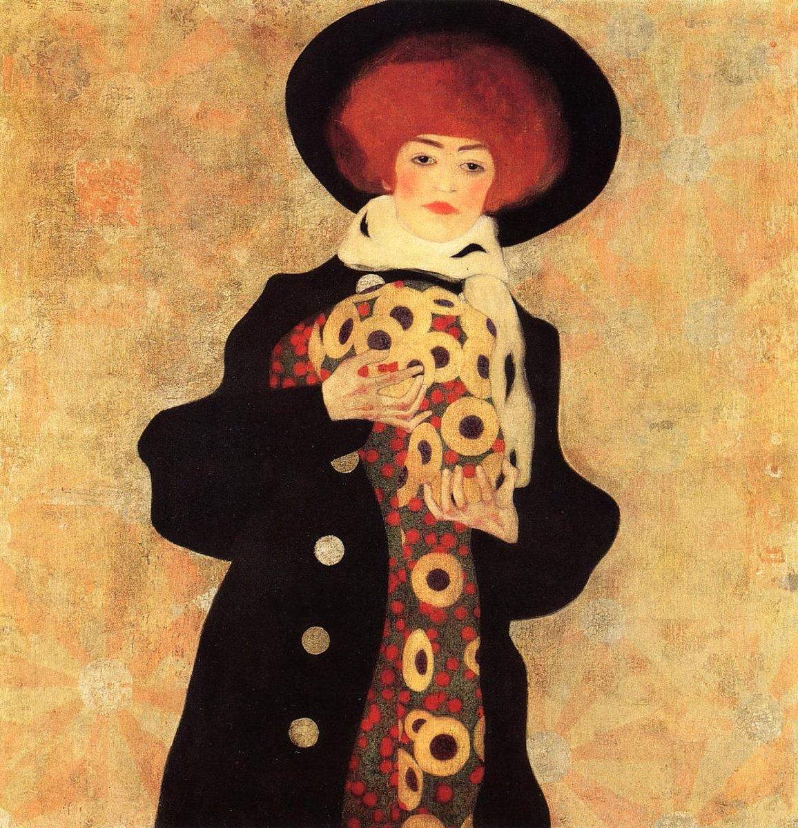 Egon Schiele, Femme au chapeau noir, 1909, via Pinterest