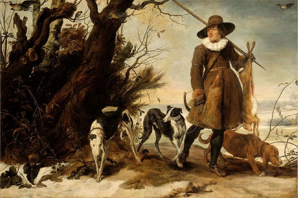 Jan Wildens, Winterlandschaft mit Jäger, 17. Jh. | Abb. via Wikipedia