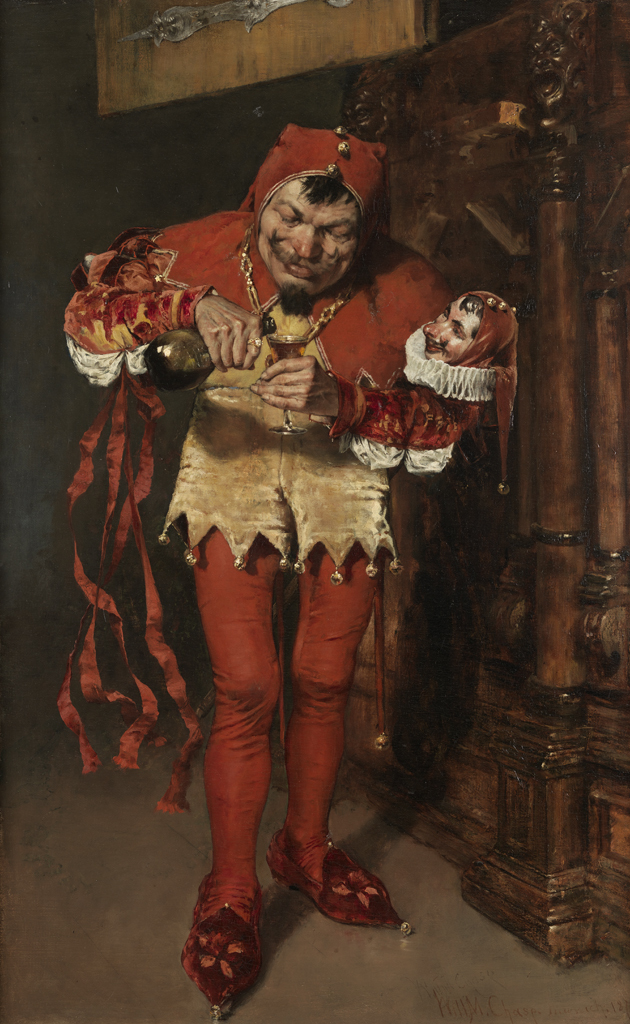 William Merritt Chase, « Keying Up, The Court Jester », image ©pafa.org.