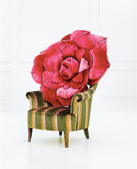 CARLA TOLOMEO - Sessel mit unterschiedlichen Bezugsstoffen, 128x105x80 cm, ca. 2005 Schätzpreis: 2.900-3.500 EUR