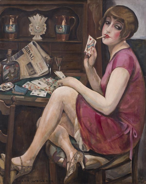 """Gerda Wegener, """"Queen of Hearts (Lili)"""", 1928."""