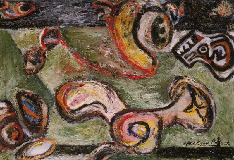 Jackson Pollock., Composition, c. 1938-1941