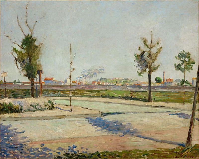 Paul Signac, Route de Gennevilliers, 1883, image © Musée d'Orsay