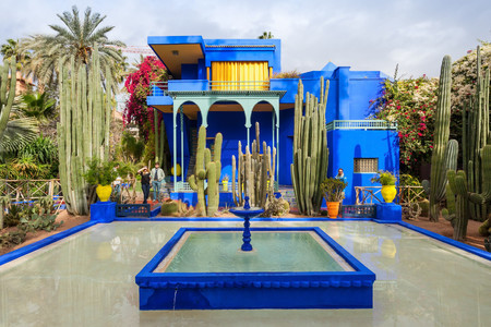 Jardine Majorelle i Marrakech.