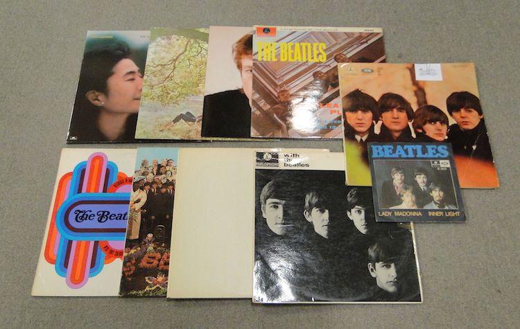 The Beatles, 6st LP + 1st singel samt John Lennon, 3st LP.