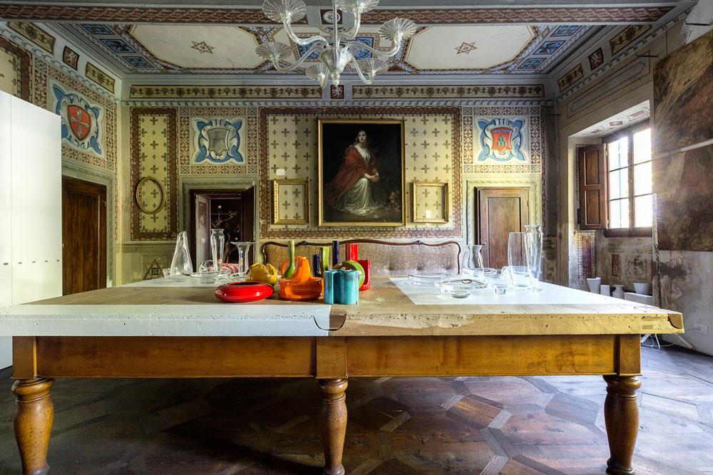 Interior decorado de Villa Gaeta.