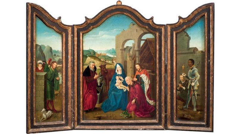 """""""Adorazione dei Maghi"""", scuola centro-europea, XV-XVI Secolo."""