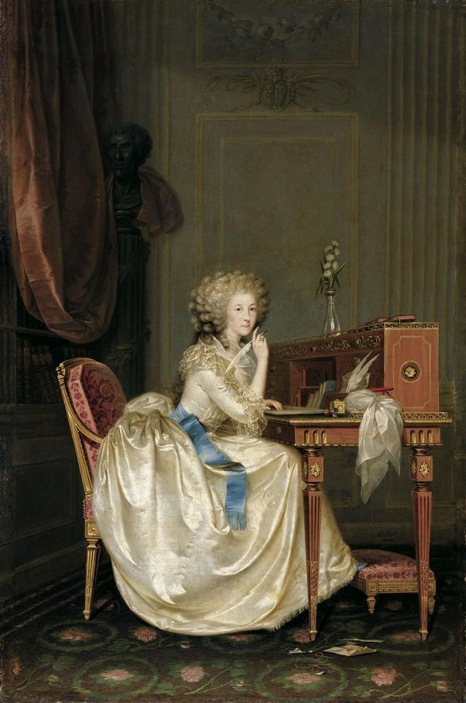 ANTON HICKEL. Retrato de la princesa de Lamballe (1788) Fotografía vía Wikipedia