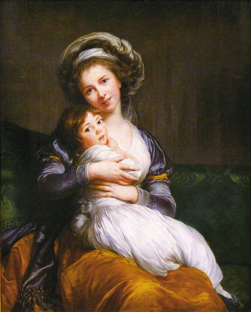 Självporträtt med dottern Julie, Élisabeth Vigée Le Brun, 1786