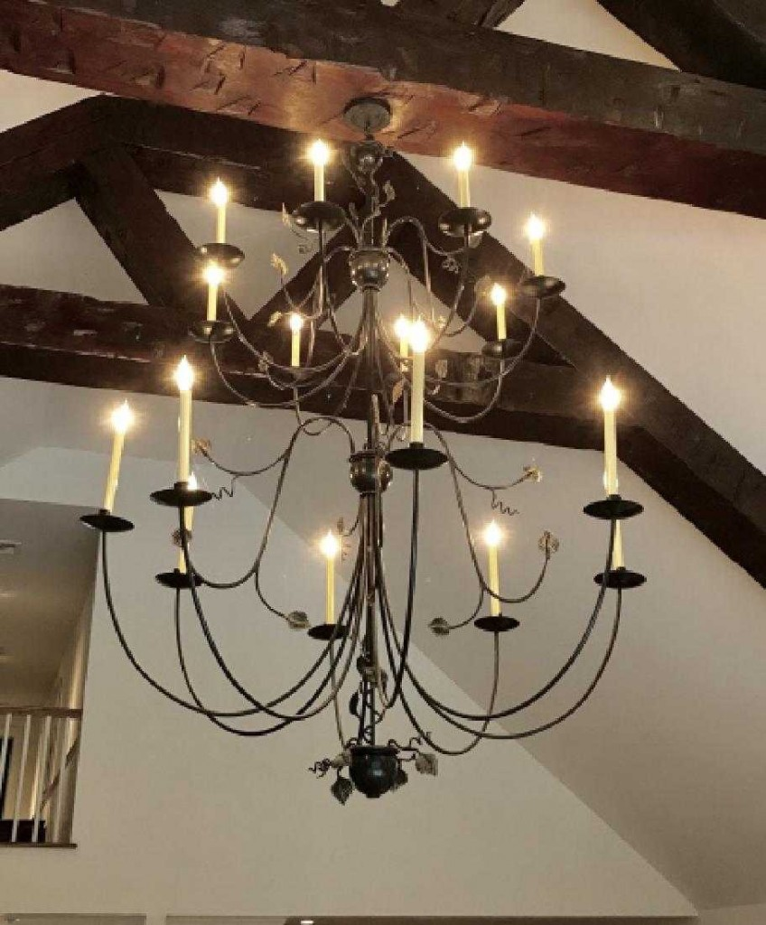 16 Arm Saugatuck Wrought Iron Tiered Chandelier