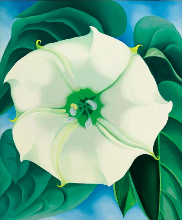 Georgia O'Keeffe (1887 - 1986) Jimson Weed/White Flower No. 1 Image via Sotheby's