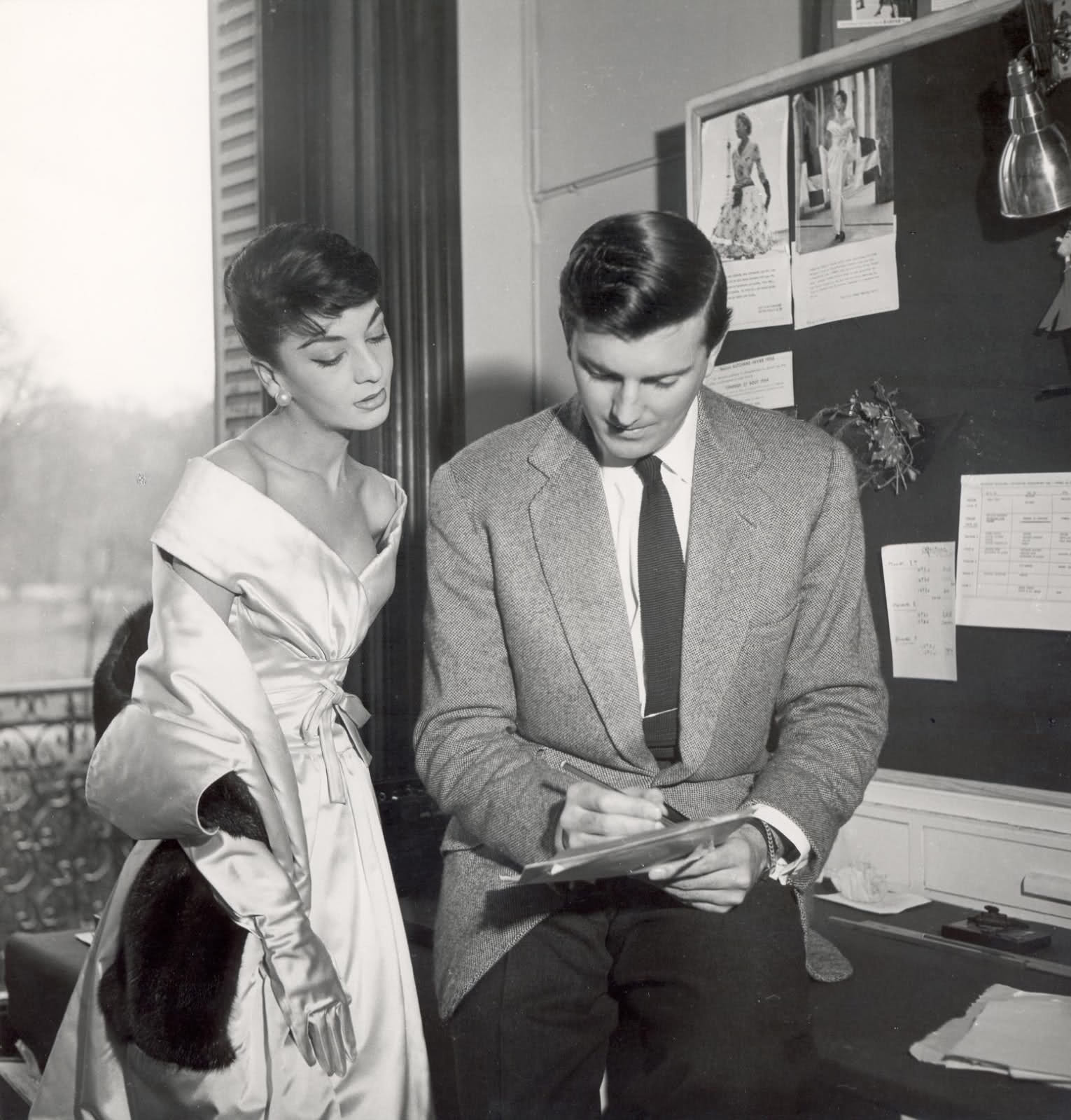 Audrey Hepburn with Hubert de Givenchy. Image: The Gloss Magazine