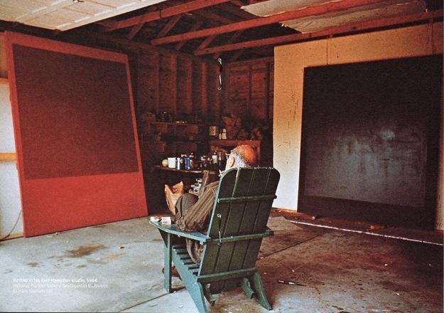 Mark Rothko i sin studio. Foto: Hans Namuth.