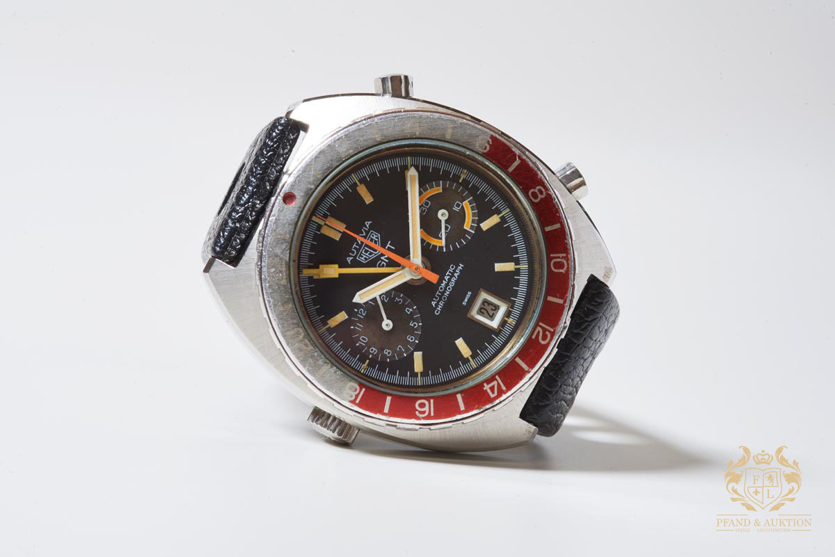 Heuer Autavia GMT Vintage Chronograph, Stainless Steel, 1981