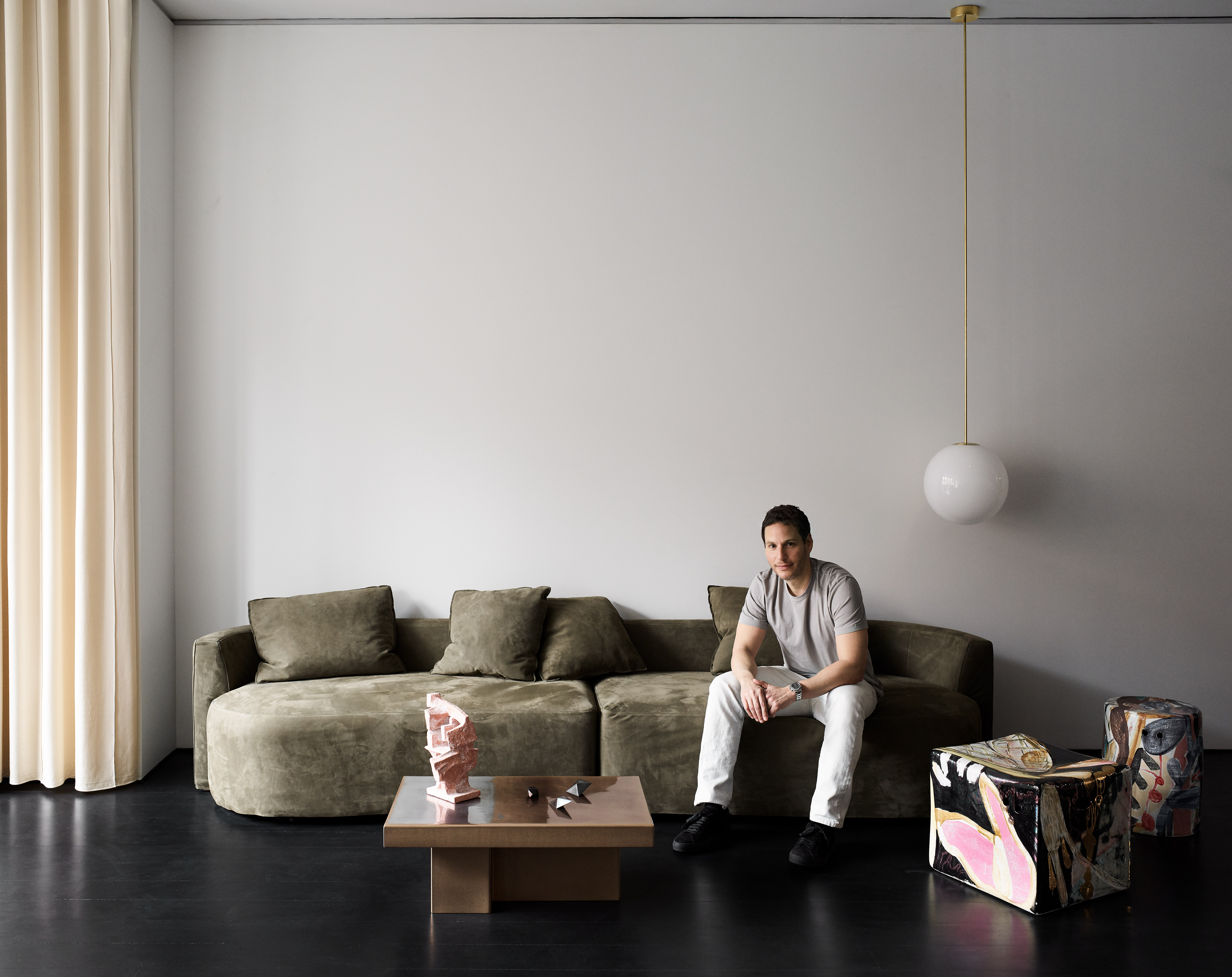 The Future Perfect founder David Alhadeff in Casa Perfect New York. Image: Douglas Friedman
