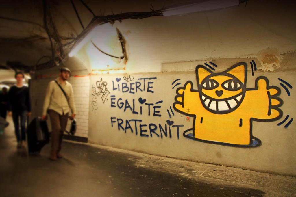 M.Chat dans le métro parisien Image via monsieurchat.fr