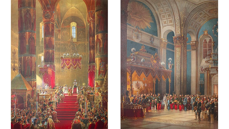 Die Krönung der russischen Zaren fand traditionell in der Mariä-Entschlafens-Kathedrale im Moskauer Kreml statt