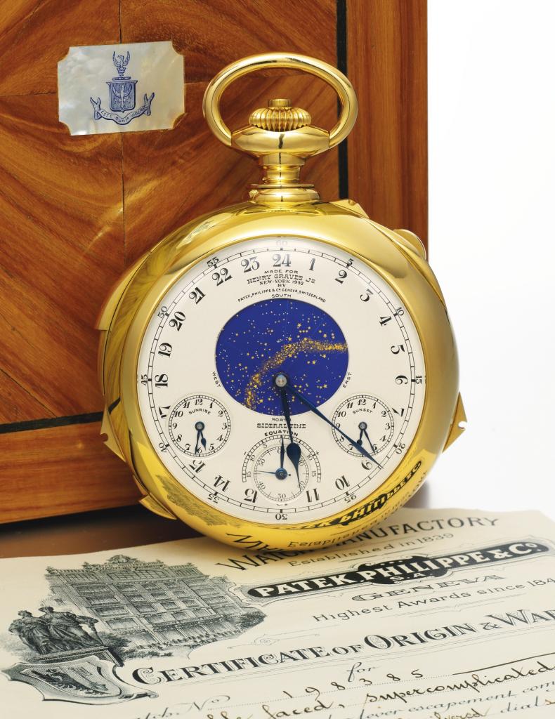 Wurde 2014 zur teuersten Taschenuhr der Welt: The Henry Graves Supercomplication von Patek Philippe