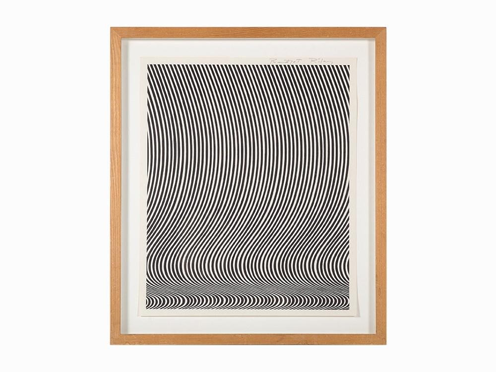 Bridget Riley, 'Untitled', Litografi ca 1960. Utrop: 50,700 sek. Auctionata.
