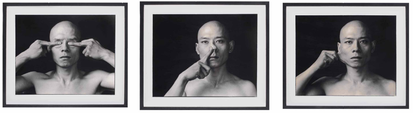 "Zhang Huan, ""Skin (cheek, eyes, nose)"", 1997. På auktions hos Christies. Utrop: 80 000 SEK"