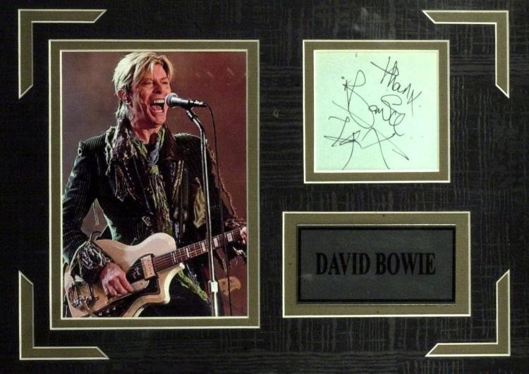 Autographe de David Bowie The Written Word Autographs