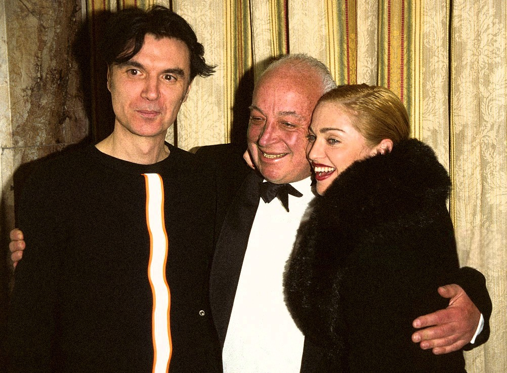 Seymour Stein, David Byrne and Madonna