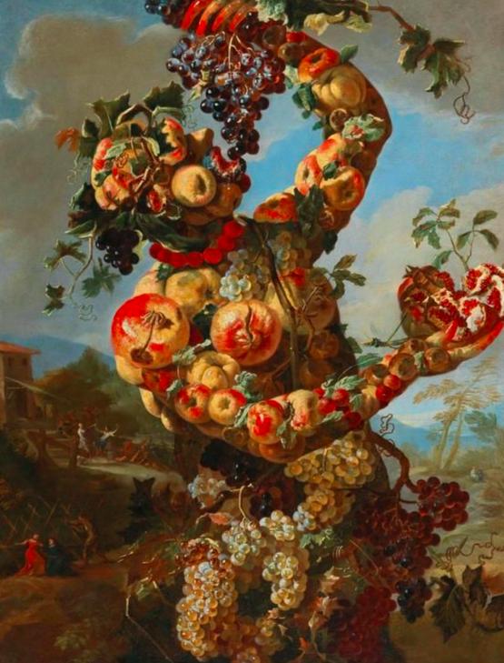Giovanni Paolo Castelli, dit Lo Spadino Allégorie anthropomorphique de l'automne