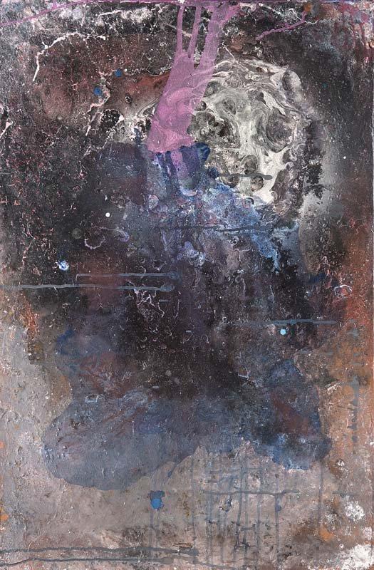 FRED THIELER - Ohne Titel, Mischtechnik/Lwd., 90 x 60 cm, um 1967 Startpreis: 5.500-11.000 EUR