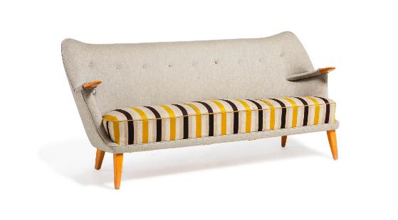 "Kurt OSTERVIG (1912-1986) Grand canapé modèle ""53"""