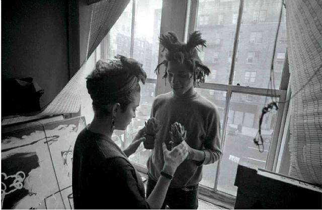 Madonna and Jean-Michel Basquiat Image via art-sheep.com