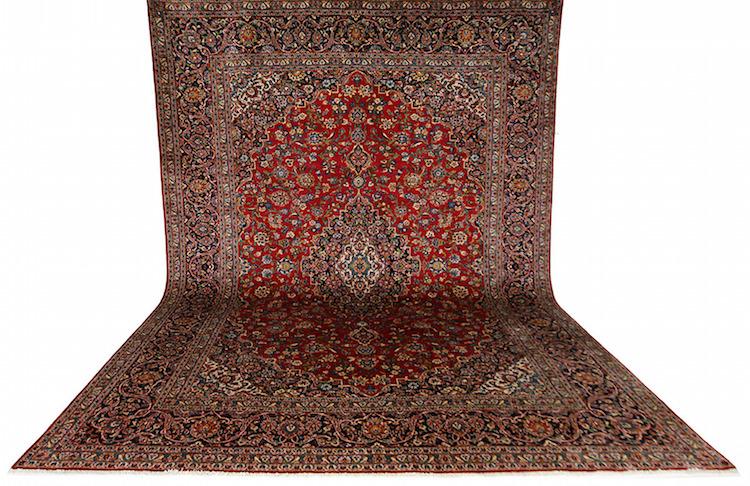 Matta, Kashan, Persien, 408 x 297 cm. Utrop: 7.000 Sek Göteborgs Auktionsverk