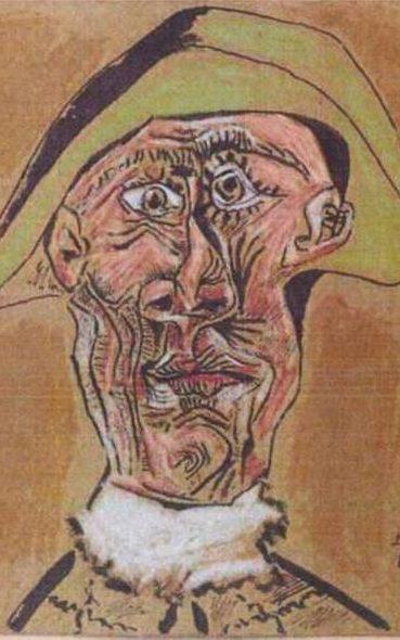Pablo Picasso, Tete d'Arlequin, 1971.