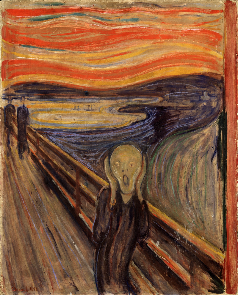 Le cri, Edvard Munch, 1893, ©National Gallery à Oslo