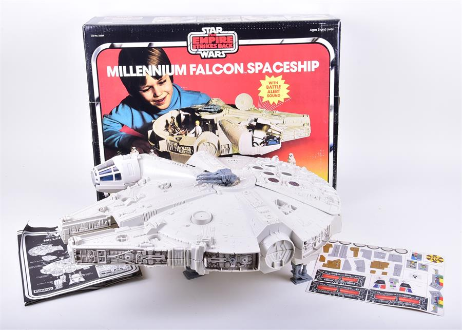 A 1980 Star Wars Empire Strikes Back Millennium Falcon Spaceship by Palitoy. Photo: Dawson's Auctioneers