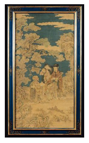 Extremt sällsynt kejserlig Kesi i siden. Kina, Qing-dynastin. Utrop: 370 000 SEK Cambi