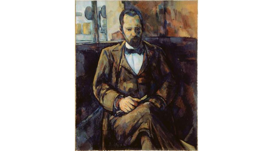 Paul Cézanne (1839-1906), Portrait d'Ambroise Vollard, 1899 (Petit Palais). Marchand d'Art et galeriste avant-gardiste, Ambroise Vollard exposa entre autres Gauguin, Cézanne (à partir de 1895), Picasso, Matisse… En leur donnant de la visibilité, Vollard fut l'un de ceux qui participa grandement à faire reconnaître ces génies trop en avance sur leurs temps.