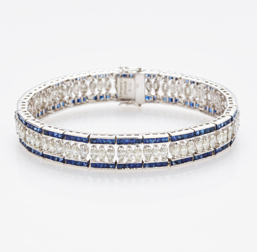 Tiffany & Co. Armband with Diamonds and Sapphires. Photo: Stockholm Auktionsverk
