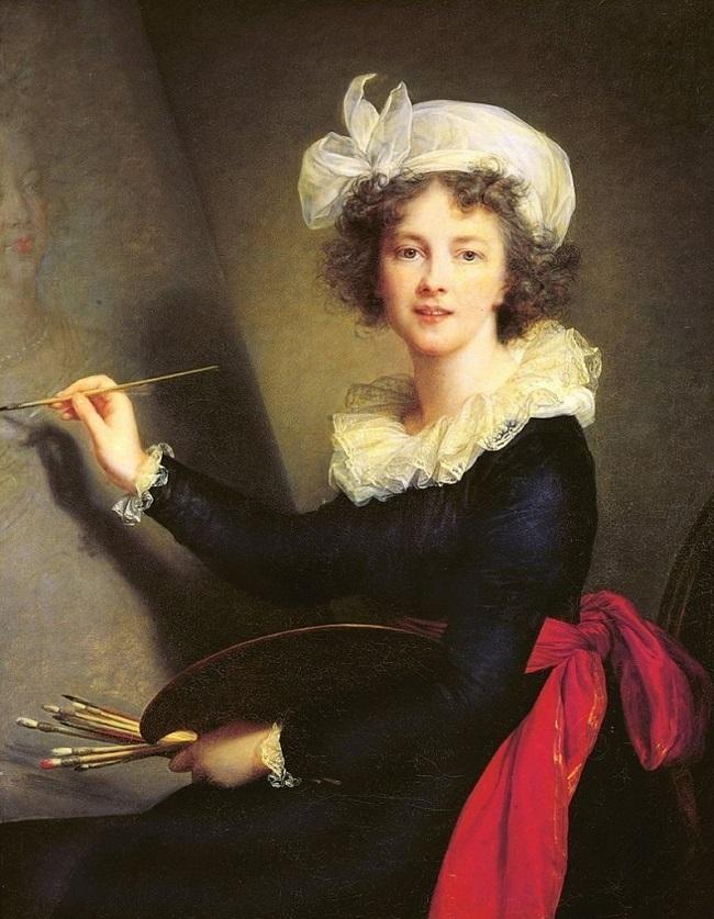 Marie Louise Élisabeth Vigée Lebrun. Autorretrato, 1790. Imagen: Galleria degli Uffizi, Florencia