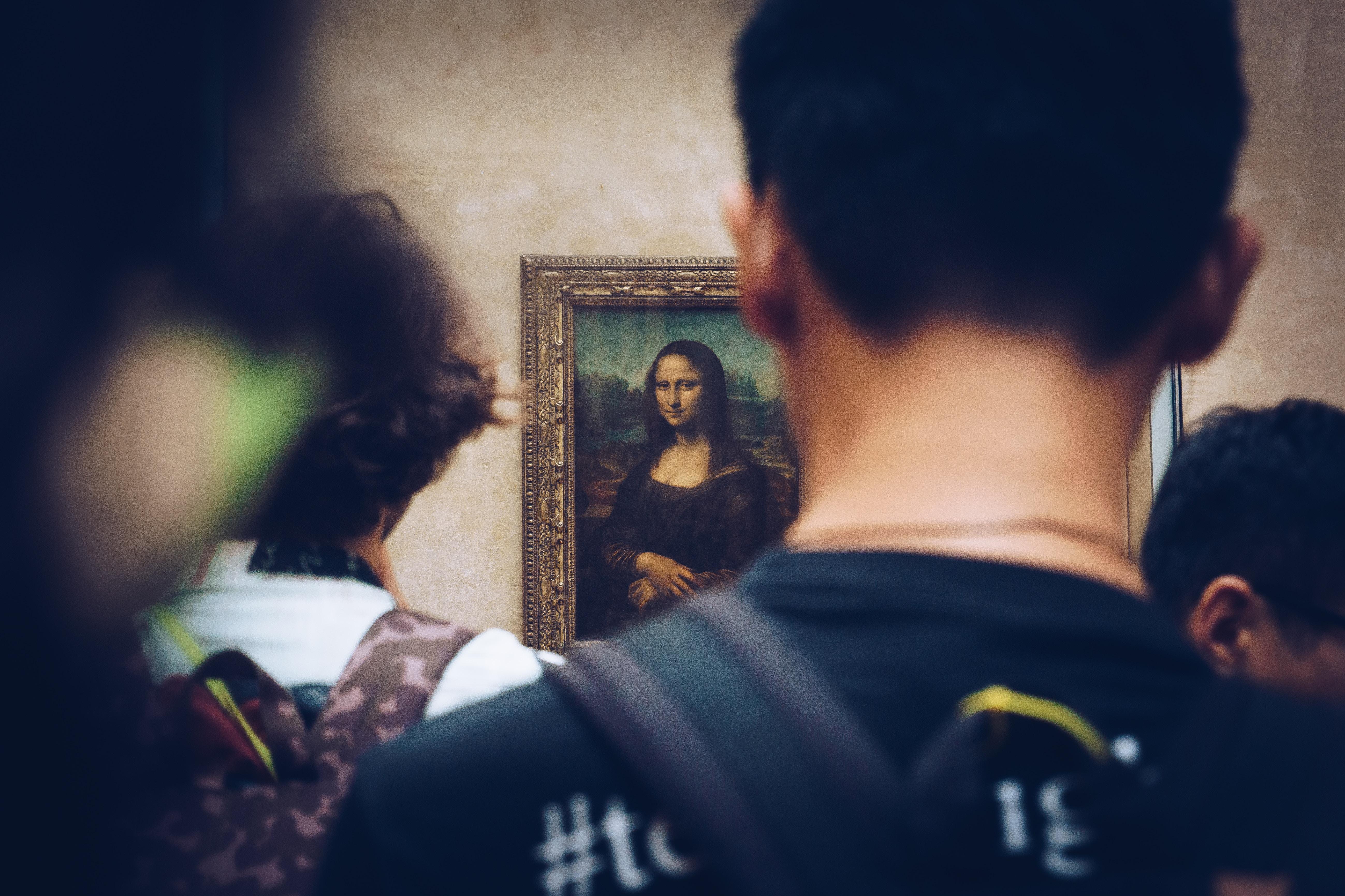 Mona Lisa på Louvren i Paris. Fotograf: Juan Di Nella