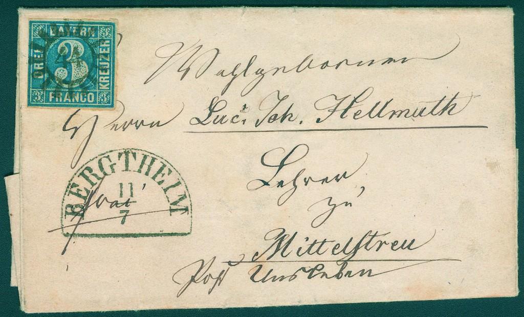 BAYERN - Spezialsammlung der geschlossenen Mühlradstempel auf Briefen bzw. einigen Briefvorderseiten Ausruf: 10.000 EUR