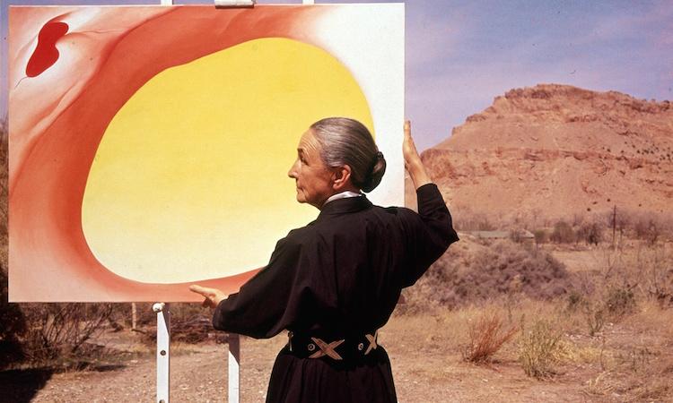 Amerikanska konstnären Georgia O'Keeffe. Världens idag dyraste kvinnliga konstnär på auktion. Photograph: Tony Vaccaro/Getty Images