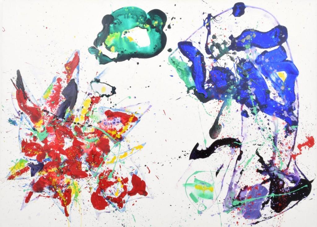 Sam Francis acrylic on canvas
