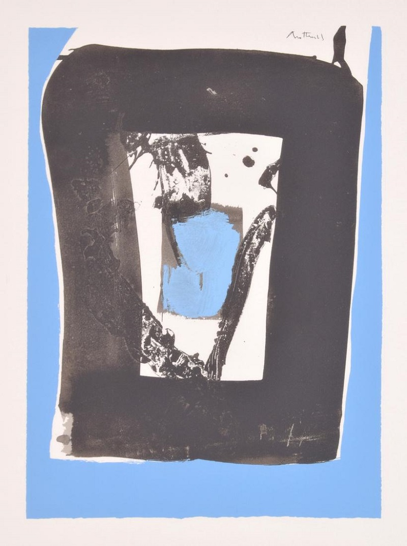 """ROBERT MOTHERWELL. """"Black and blue from The Basque"""""""