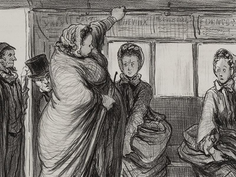 "HONORÉ DAUMIER. ""Madeleine-Bastille"". Litografía (1862)"