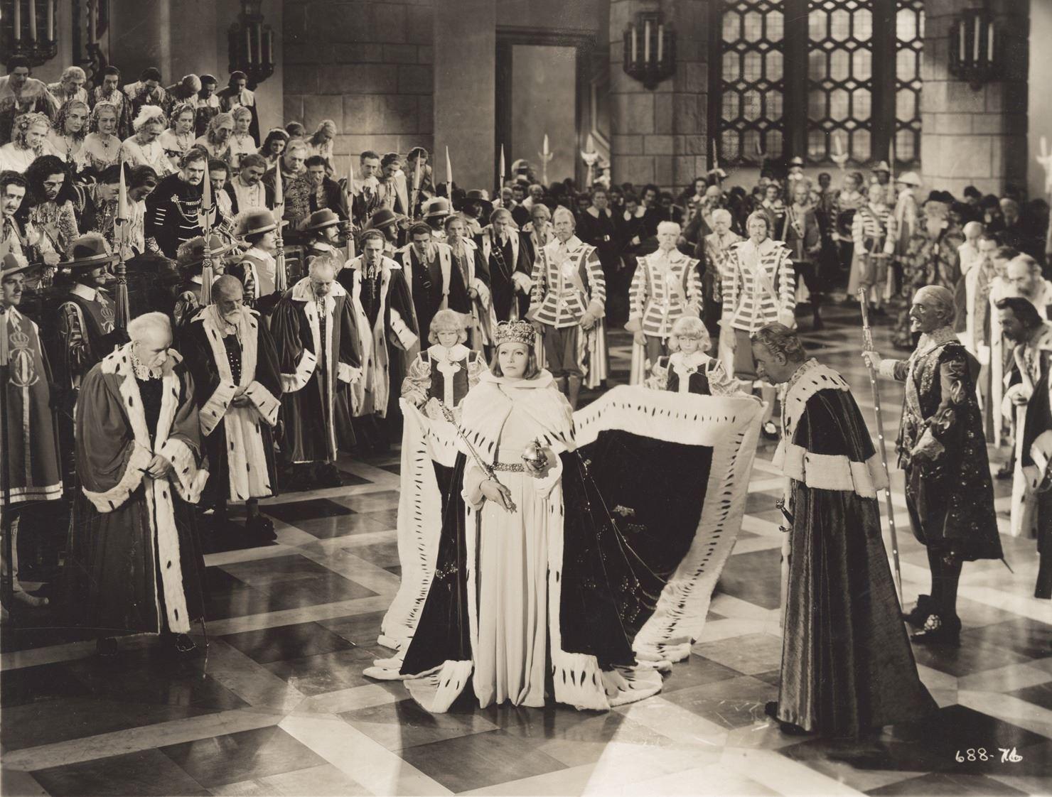 The coronation scene in Queen Christina