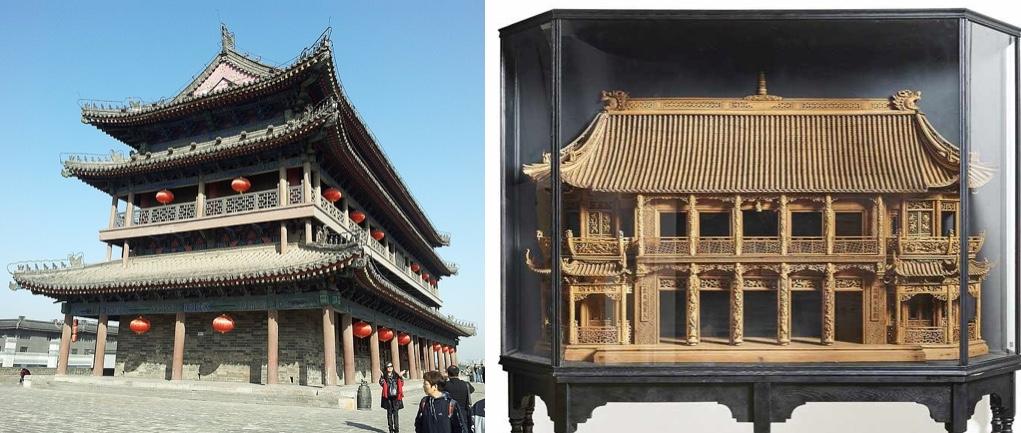 Architektonisches Palast-Modell einer kaiserl. Pagode, teilw. durchbrochen geschnitzt, Fo-Hund aus Speckstein, wohl China/Tibet um 1900 Schätzpreis: 17.000 EUR