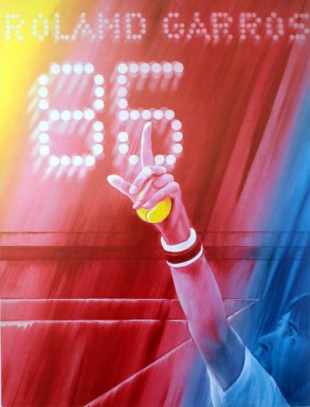 Affiche de Roland Garros 1985 Antikbar