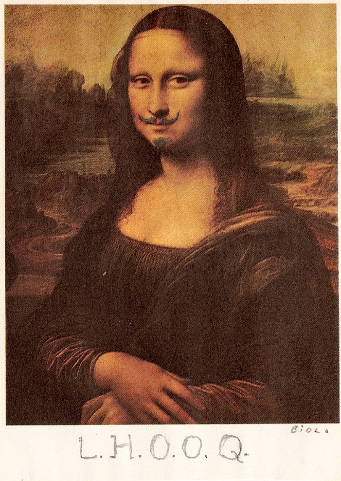 Marcel Duchamp LHOOQ. Bild: Pinterest