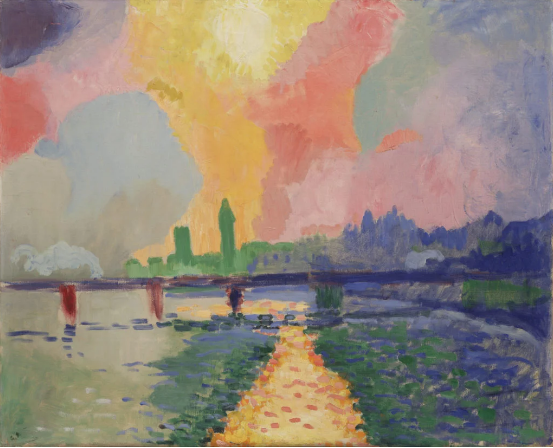 André Derain, Charing Cross Bridge (1905–06). Courtesy of the Museum of Modern Art Donation de M. et Mme David Rockefeller ©2016 Artists Rights Society (ARS), New York / ADAGP, Paris. Photo: Paige Knight.