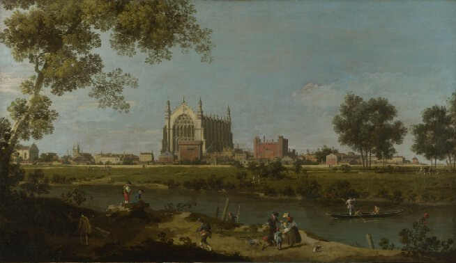 Canaletto, 'Eton College', c. 1754, collection of the National Gallery